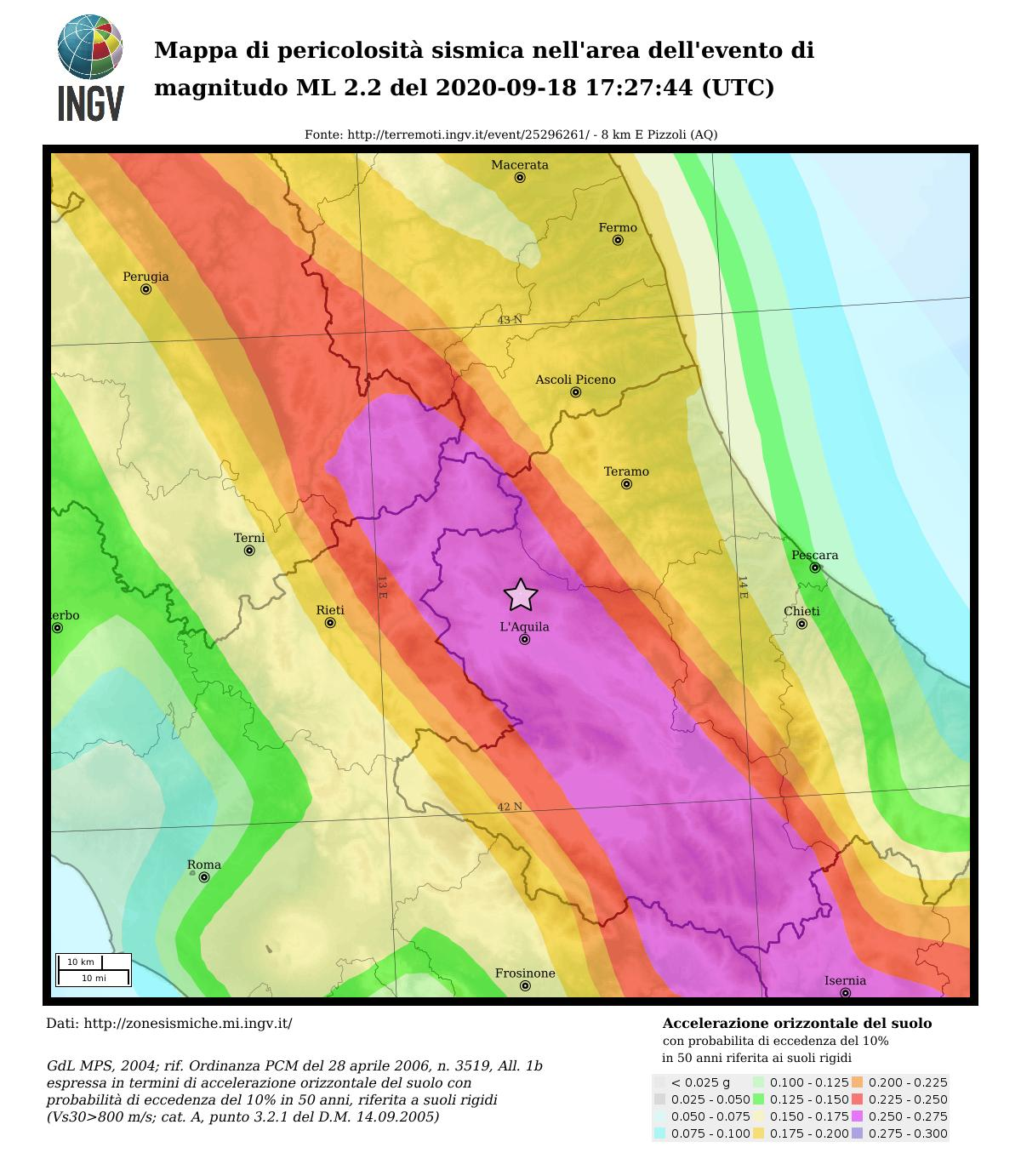 Seismic hazard map