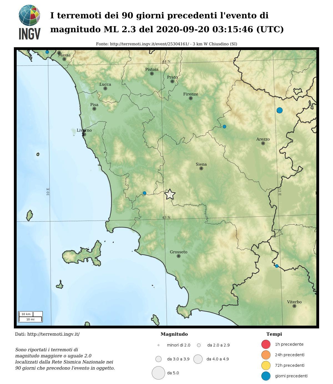 Earthquakes of the last 90 days